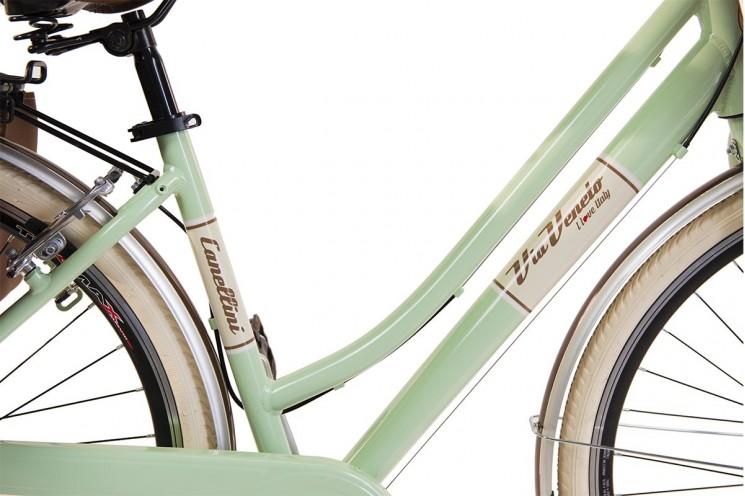 Via Veneto by Canellini Bici V/élo Citybike Byciclette CTB Femme Dame Vintage Retro Via Veneto Aluminium Panier et Sonnette Bell