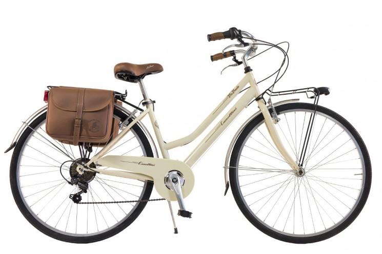 CANELLINI Via Veneto By Bicicletta Bici Citybike CTB Uomo Vintage Retro Dolce Vita Alluminio Grigio